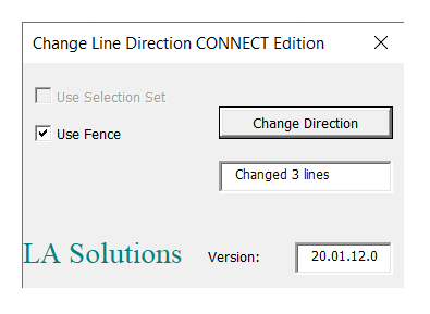 LA Solutions: change line direction
