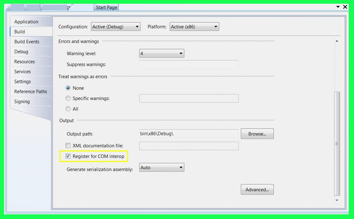 COM Server Development using  NET