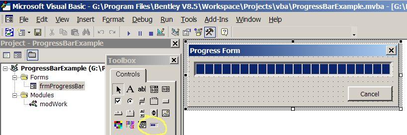 MicroStation VBA Progress Bar