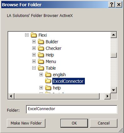 Select folder excel vba